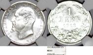Bulgaria. Ferdinand I (1908-1918). Silver 1 Lev 1913. NGC MS61