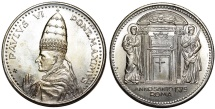 "World Coins - Vatican City. Pope Paul VI (1963-1975). AR Medal ""Holly Year"" AN II (1975). UNC+"