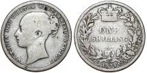 World Coins - Great Britain. Victoria. AR 1 Shilling 1874. Fine+