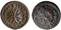 World Coins - Malta. Order of Knights of St. John. Emmanuel Pinto (1741-1773) 1 Grano 1757. Good Fine+