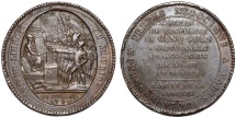 "World Coins - France. Paris RARE AE 5 Sols 1792.""On the Constitution, five grounds of Monneron to the oath - A/LIVE FREE - OR DIE"". Nice XF"