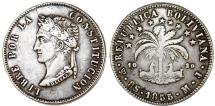 World Coins - Bolivia. Republic. AR 8 Soles 1855FJ. Choice XF, toned