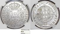 World Coins - Brazil. Joanes as Prince Regent (1799-1816). AR 960 Reis 1820 R. NGC MS63!