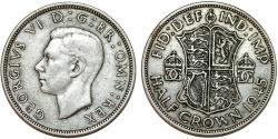 World Coins - Great Britain. king George VI. AR Half Crown 1945. Toned Choice XF