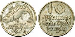 World Coins - Danzig. Free City. B-Al 10 Phennige 1932. Nice Choice XF