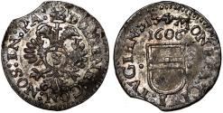 World Coins - Switzerland. Zug Canton. Silver 3 Kreuzer 1606. Good XF