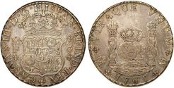 World Coins - MEXICO. Colonial. Carlos III of Spain (1759-1788). AR 8 Reales 1767 Mo-FM. About XF, toned