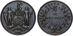 World Coins - British North Borneo. Empress Victoria. AE 1 Cent 1885 H. Good XF