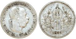 World Coins - Austria. Franz I Josef (1848-1916). Silver Corona 1894. VF.