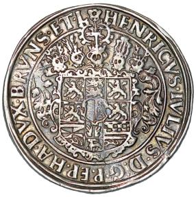 World Coins - Germany: Brunswick-Wolfenbuttel. H. Julius (1589-1613). Silver Taler 1611. Choice VF