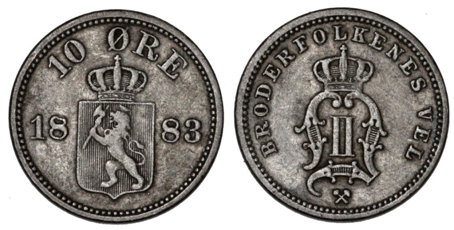 World Coins - Norway. AR 25 Ore 1898. VF