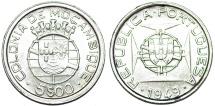 Mozambique as Portuguese Colony. Silver 5 Escudo 1949. Choice AU