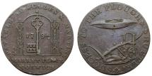 World Coins - Great Britain. Norwich. Joshua Bullen, Bullen & Martin, Copper Halfpenny Token 1794. About XF