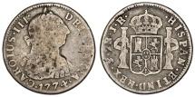 World Coins - Spanish Colony. Bolivia. Charles III (1759-1788). AR 2 Reales 1774, Fine+/aVF