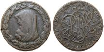 World Coins - Great Britain. North Wales. George III (1760-1820). Scarce Cu Penny 1787. Fine+