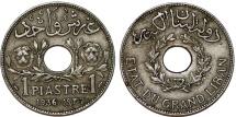 French Protectorate. Lebanon. CU-NI 1 Piastre 1936. Toned XF.