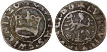 World Coins - Silesia. City of Swidnica. Ludwig I. AR Half Gross 1520. Fine++