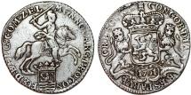 World Coins - Netherlands. Zeeland. AR Ducatone called: Silver Rider 1791. Choice VF