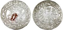"World Coins - Poland. For Prussia. King Sigismund I ""Old"" (1506-1548). AR Groschen 1531. VF, toned."