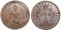 World Coins - France. Copper Jeton 1699. UNIVERSITY OF PARIS Great Masters of the University.  VF/Choice VF