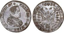 World Coins - Spanish Netherlands. Belgium. Brabant. Phillip IV of Spain (1621-1665). Cu Treasury Token 1654. XF+