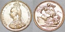 World Coins - Australia. Queen Victoria (1837-1901) Gold Sovereign 1889 S. Good XF