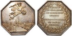 World Coins - France: Ruen. Luis XV (1715-1774) . Silver RARE Jeton 1802-1803 - Camera di Commercio di Rouen e Normandi. AU+