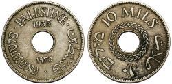 World Coins - British Administration. Palestine. CuNi 10 Mils 1935. VF+