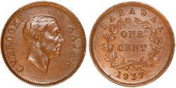 World Coins - Sarawak (North-West Borneo). Charles V Brooke (1917-1946). AE Cent 1937. UNC