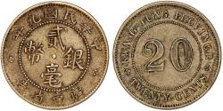 World Coins - CHINA – PROVINCIAL ISSUES. Kwang-Tung Province. AR 20 Cents 1921. Toned XF