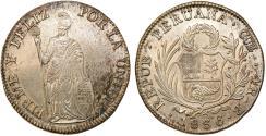 World Coins - PERU. Republic (1821-present). Silver 8 Reales 1838 MB. Nice AU.