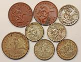 World Coins - Philippines. USA administration. Lot of 8 Coins. XF+ to UNC