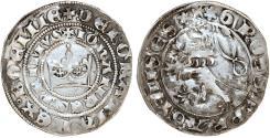 World Coins - Bohemia. Czech Kingdom. king John The Blind (1310-1346). AR Large Gross ND. VF.