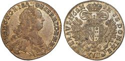 World Coins - Bohemia. Holy Roman Empire. Franz I. Emperor, 1745-1765. AR 17 Kreuzer 1762 PR. Choice XF+.