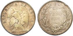 World Coins - Chile. Republic. Silver Peso 1902. aVF