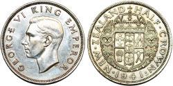 World Coins - New Zealand. AR Half Crown 1941. AU/UNC details
