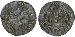 World Coins - SPAIN, Castile & Leon. Enrique III, 1390-1406 AD. AE Blanca of Burgos ND. Toned VF