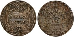World Coins - Papal States. Rome. INNOCENT XI (1676-1689). AR Giulio (Anno III) 1679/1680. Choice XF+, greatly toned