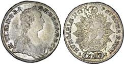 World Coins - H.R.E. Hungary. Queen M. Theresa (1740-1780). AR 17 Krajcar 1753 KB. Choice XF.