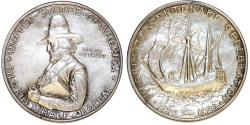 Us Coins - USA. Silver Commemorative 50 Cents: PILGRIM 1920. Lightly retoned AU.