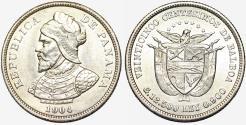World Coins - Panama. Republic. AR 25 Centesimos 1904. UNC details