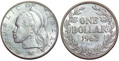 World Coins - Liberia. Republic. Silver 1 Dollar 1962. AU