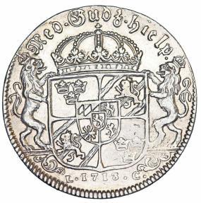 World Coins - Sweden. king Karl XII (1697–1718). AR Riksdaler 1713. VF. Rare!