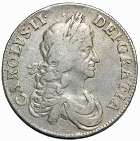 World Coins - Great Britain. Charles II (1660-1685). AR Crown 1666