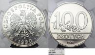"World Coins - Poland. Nickel Pattern ""PROBA"" 100 zl 1990 MW. NGC PF67 C"