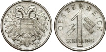 World Coins - Austria. Oestereich Republic. Nice 1 Schilling 1934. AU/UNC