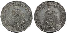 World Coins -  GERMANY, Saxe-Old Weimar. Friedrich Wilhelm I and Johann III. 1573-1602. Nice AR Taler 1582. Toned XF