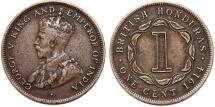 World Coins - British Honduras (Belize). George V. (1911-1936) 1 Cent 1914. Choice VF.