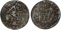 World Coins - Poland. Livonia. Governor Hetman Jan Chodkiewicz. Inflant Wars. Silver Shilling 1572. Choice VF