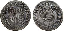 World Coins - Poland. Poznan. John II Casmir (1648-1668). Silver RARE Polker- Poltorak 1659. Toned VF.